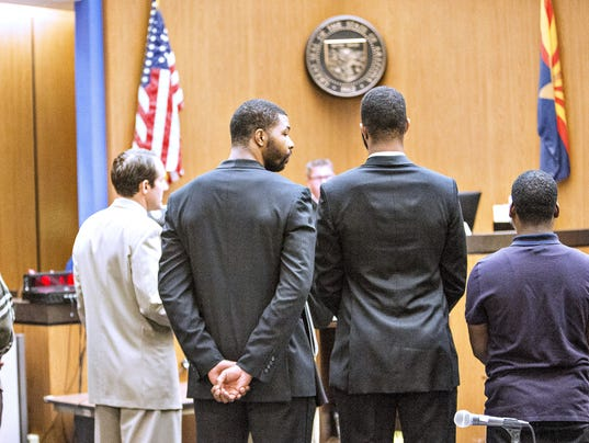 Morris twins in court