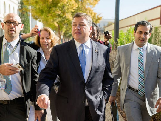 U.S. Rep. Bill Shuster, R-Everett, is shown here leaving