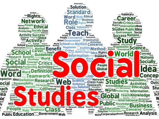 Social studies word cloud shape