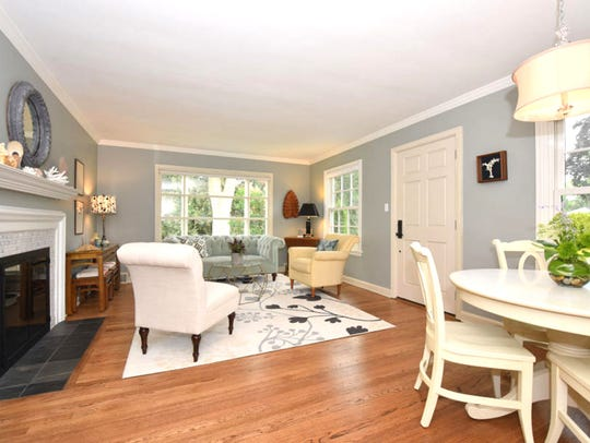 The Groves' charming living room featured plenty of