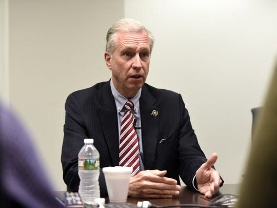 Assemblyman John Wisniewski, D-Middlesex, meets with The Record's editorial board regarding his candidacy for governor on Tuesday.
