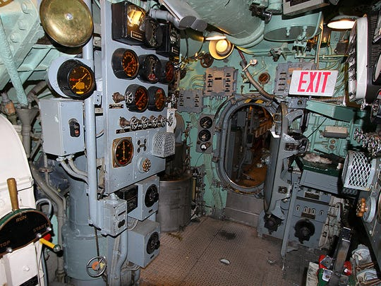 Hatchway on the USS Ling in Hackensack.