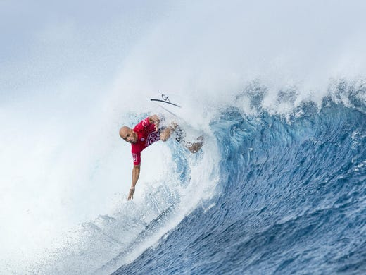 Cocoa Beach's Kelly Slater competing in the Outerknown