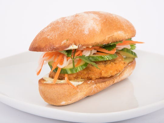 Fried chicken banh mi sandwich is among the new food