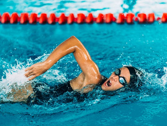 Female Frestyle Swimmer
