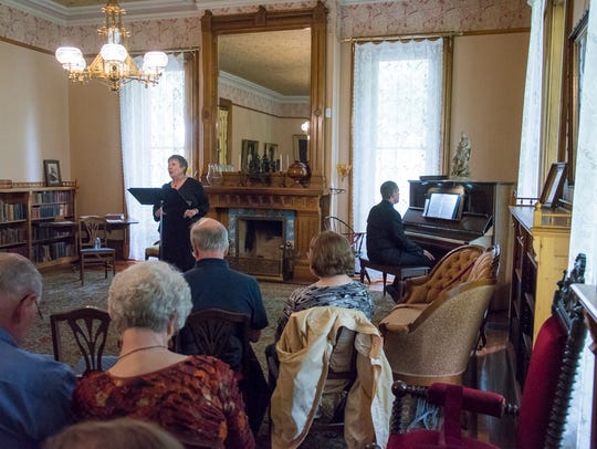 Joan Eckermann performs during Music in the Parlor