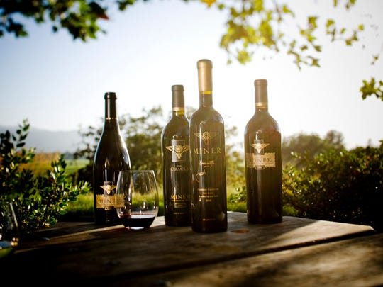 A selection of wines from the Miner Family Winery.