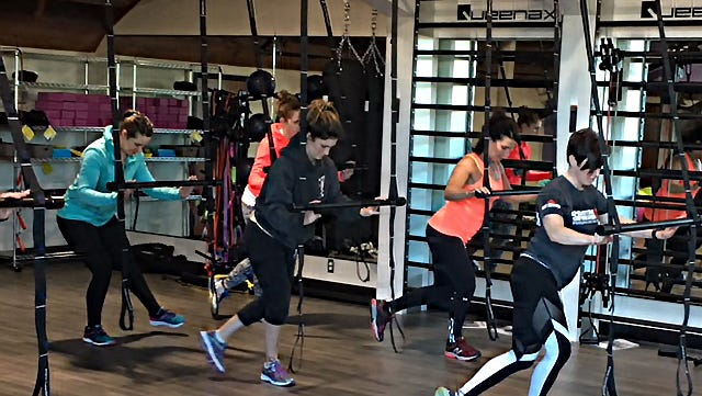 The Queenax Functional Training System at the Peak West Bank Landing.