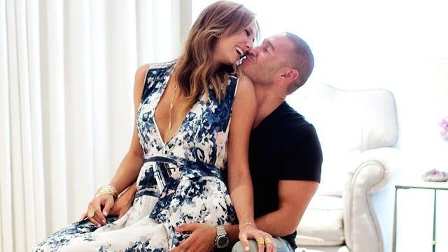Stacy Keibler  and husband Jared Pobre.