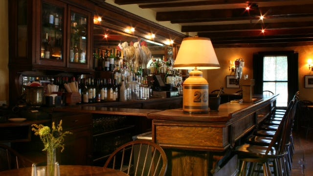 The bar at the Stissing House in Pine Plains.