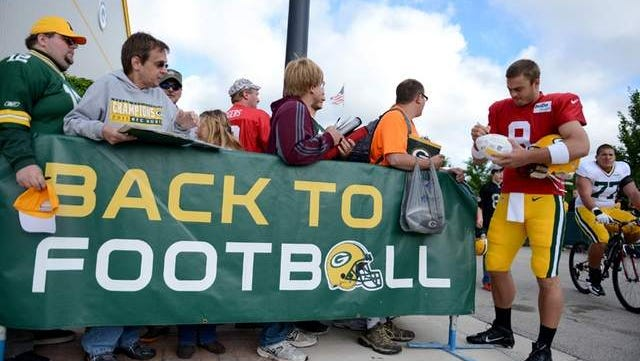 The Green Bay Packers will have 17 public practices, including Family Night, during training camp this year.