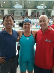Julie Rogers (middle) and Matt Wuchte (right) at the