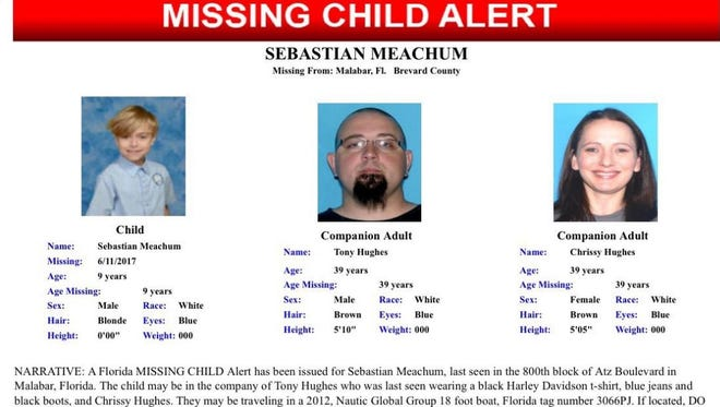 FDLE issued a Florida Missing Child Alert on Sunday for 9-year-oldSebastian Meachum. Brevard County Sheriff's Office think Meachum's body may have been found in the debris of a house fire that occurred Sunday morning.