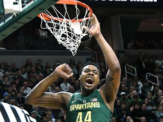Sophomore Nick Ward led Michigan State with 16 points