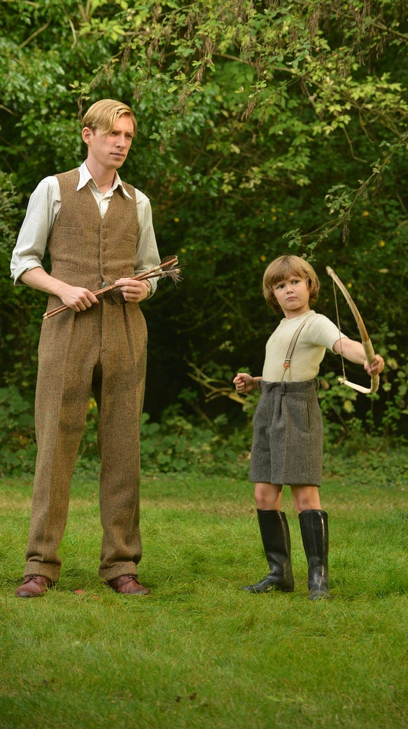 A.A. Milne (Domhnall Gleeson) enjoys a day out with