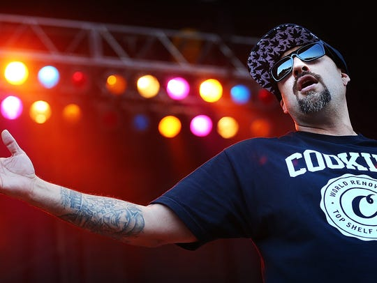 Cypress Hill front man B-Real performs during their