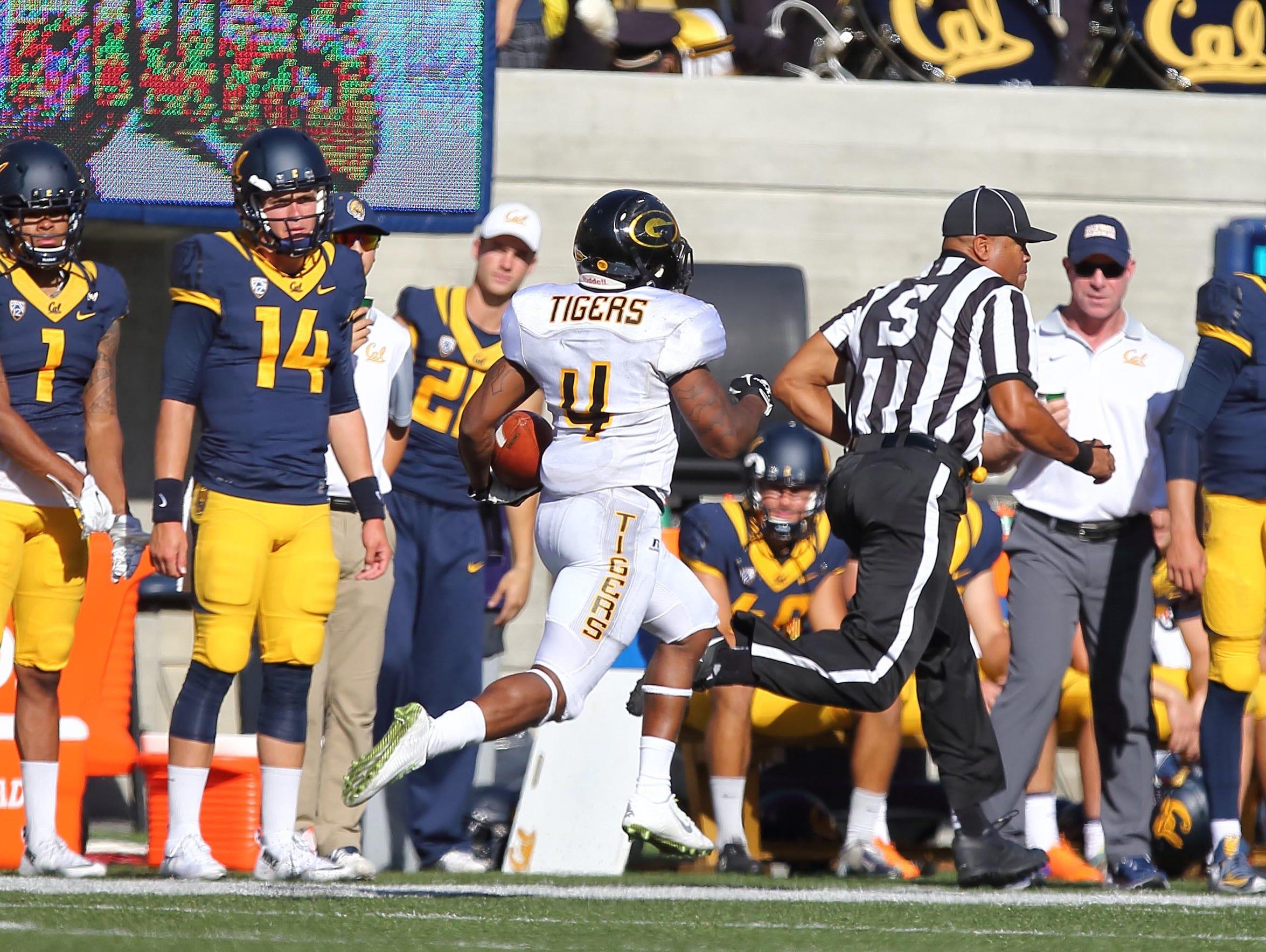 Grambling's Martez Carter (4) has eight touchdowns