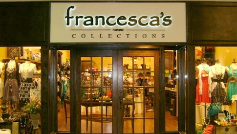 A Francesca's store at a mall in Michigan