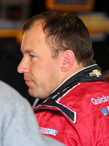 Sprint Cup Series driver Ryan Newman (31) looks on