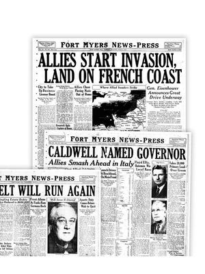 Front pages from 1944