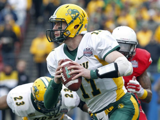 NDSU's Carson Wentz is big and strong-armed.