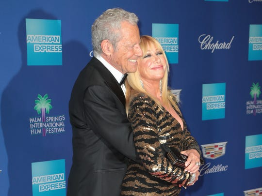 Suzanne Somers and Alan Hamel arrive at the Palm Springs International Film Festival, January 2, 2017.
