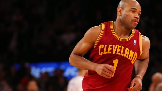 Cleveland Cavaliers guard Jarrett Jack (1) looks on during the fourth quarter against the New York Knicks at Madison Square Garden.