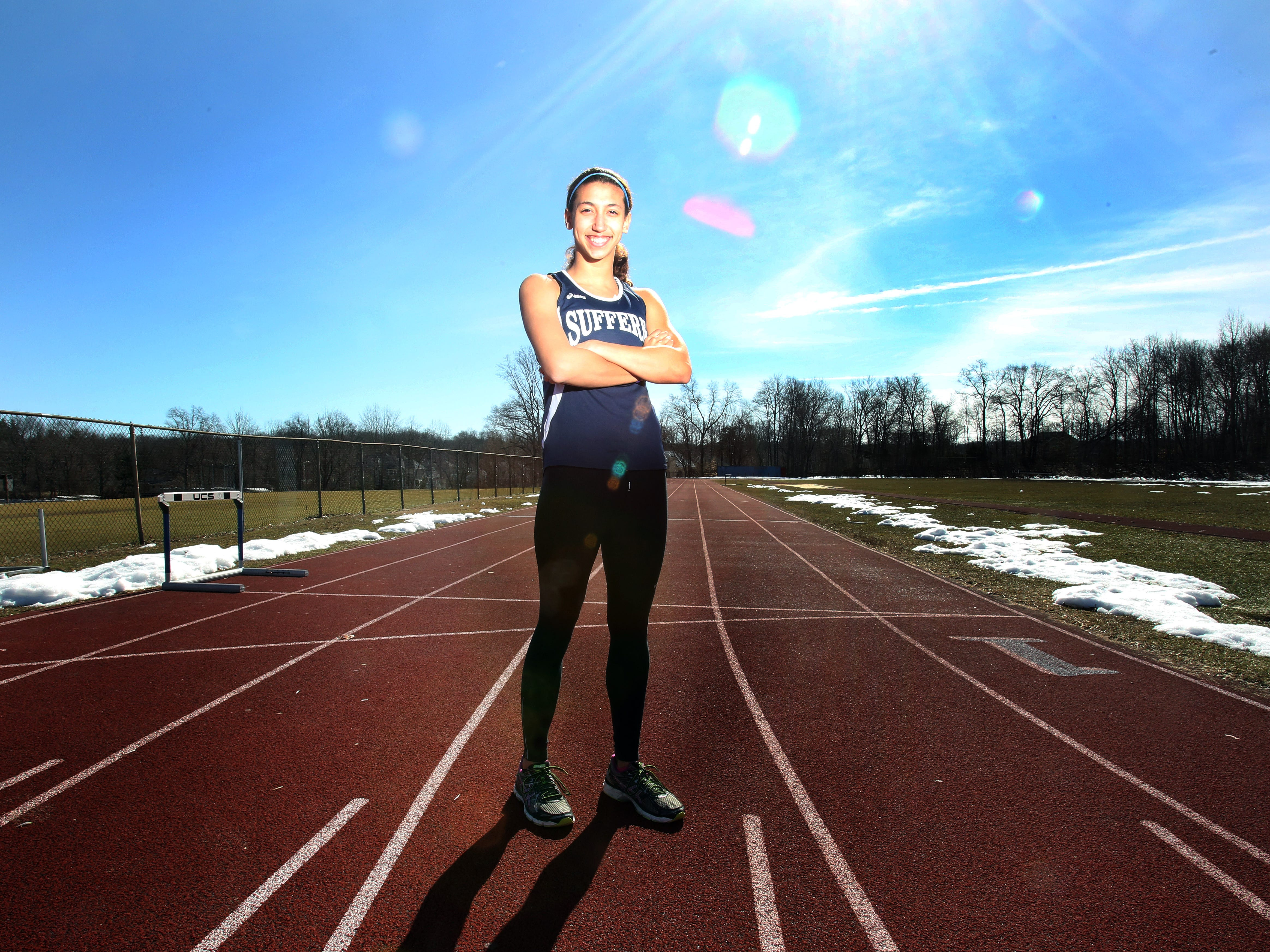 Kamryn McIntosh is the indoor track athlete of the year. McIntosh was photographed at Suffern High School March 19, 2015.