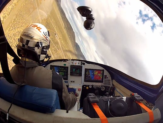 Reno Air Races cockpit banking