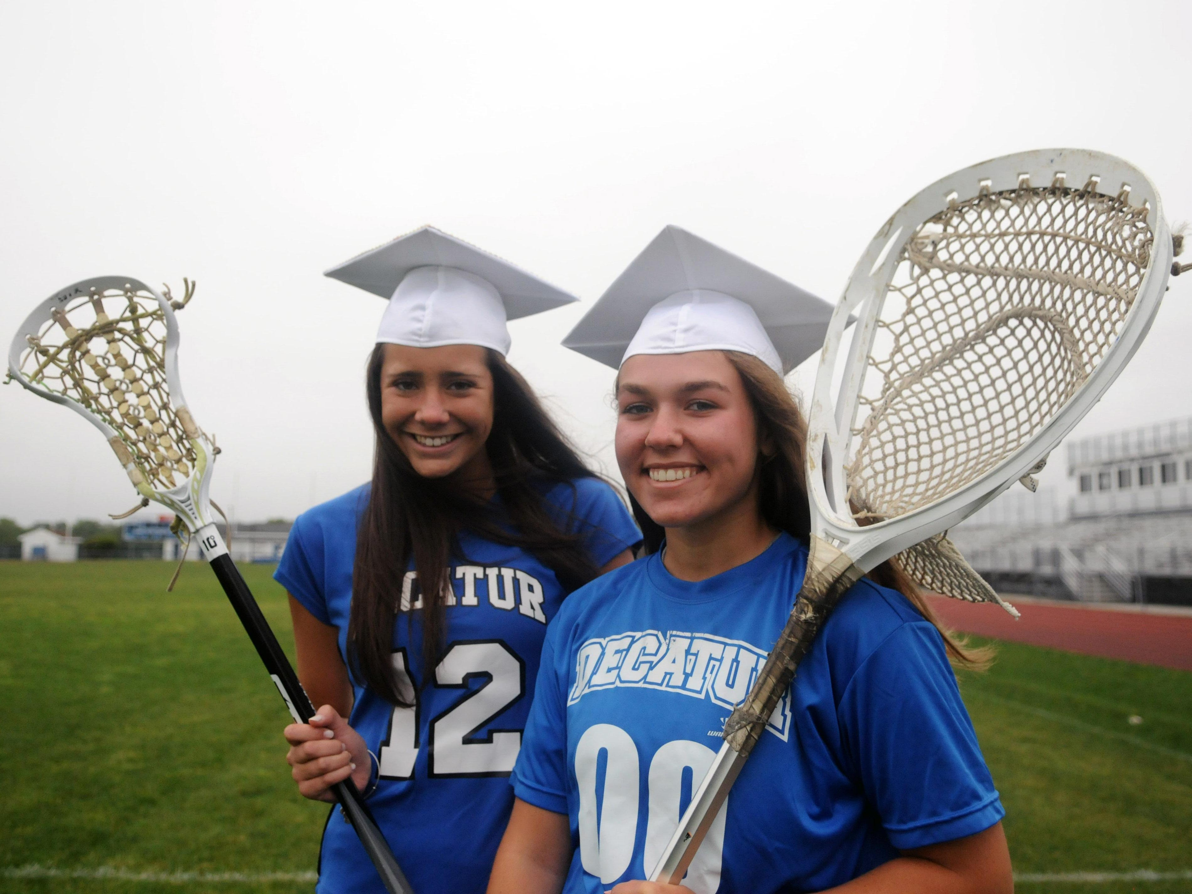 Bayside South Offensive and Defensive Players of the Year Payton VanKirk, left, and Jillian Petito.