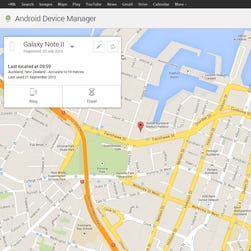 There are many third-party apps to track, lock and wipe a missing Android phone. But Google's own Android Device Manager is available as a free download from the Google Play store. Or you can log into android.com/devicemanager on a PC or Mac.