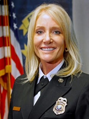 Kara Kalkbrenner was named Phoenix Fire Department's Chief Wednesday, Nov. 12, 2014. She is the city's first female fire chief.