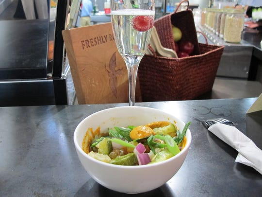 The Romesco bowl is one of three fusion entree bowls Delicious Raw recently introduced.