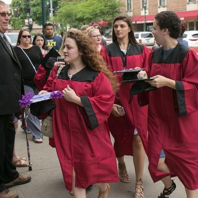 Elmira High School graduation ceremonies were held