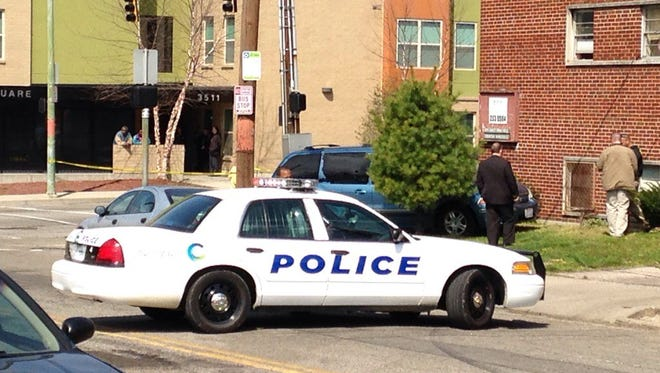 Police investigate a Tuesday morning shooting at Rockdale and Harvey avenues in Avondale.