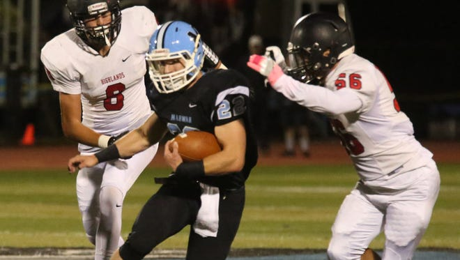Mahwah senior Brian DePaola, who has scored 17 rushing touchdowns, has been a key part of a strong Thunderbirds offense.
