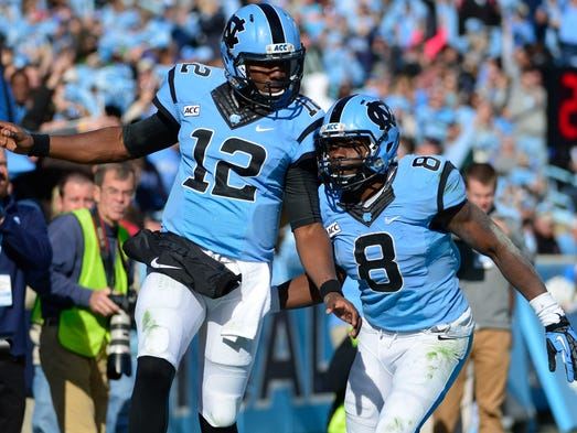 No. 25 North Carolina, 2-0 (Last week: No. 23) - 129 points
