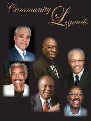 """Wilbert """"Bunny"""" Miller, Maurice Pritchett, Ted Blunt, Bob King, Major Hairston and James Sills Jr. all will be honored May 14 at the PAL of Wilmington Community Legends Banquet."""