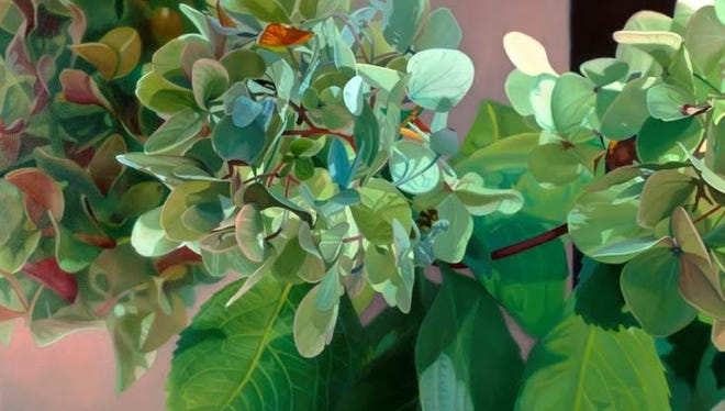 """Beth Edwards, """"Hydrangea VIII,"""" 40-by-48 inches, oil on canvas, 2016."""