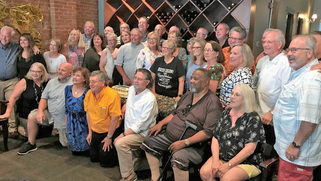 Almost three dozen 1971 graduates of Abilene High School showed up for a reunion Saturday, including the class and student body presidents and a track and field state champion.