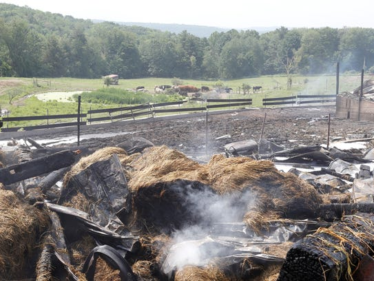 No people or animals were injured in the fire.