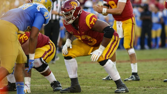 Former USC offensive tackle Austin Jackson should be an immediate starter for the Dolphins.