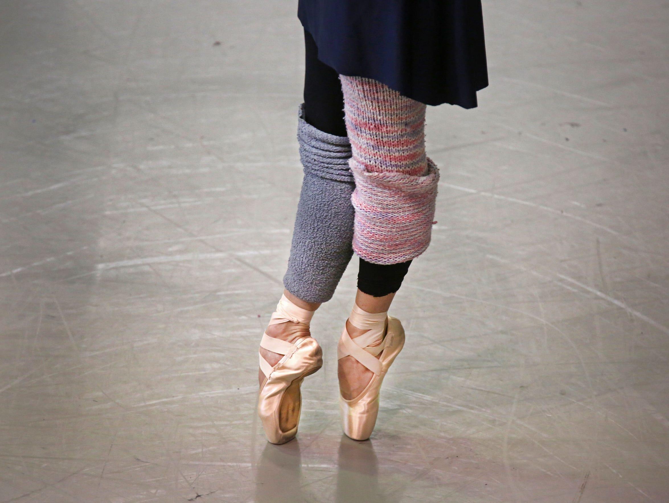 Gema Diaz, rehearses at the Cincinnati Ballet in Over-The-Rhine,