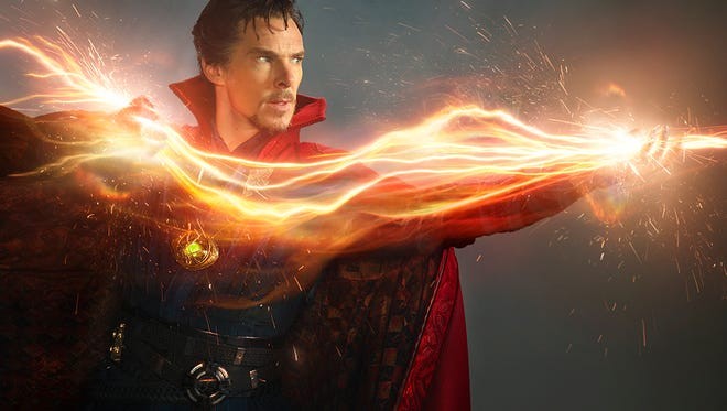 Dr. Strange (Benedict Cumberbatch) fights extra-dimensional evil armed with mystic might, his Cloak of Levitation, and the Eye of Agomotto.