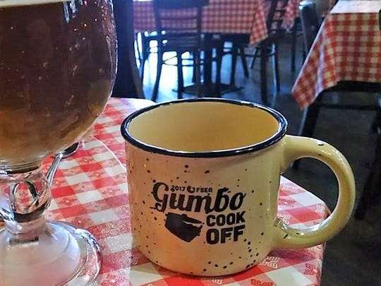 Each happy taster at the Franklin Street Gumbo Cookoff will receive a ceramic keepsake mug. It's yours to keep, and helps reduce the amount of waste generated by the event.