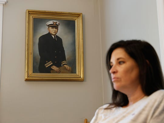 A portrait of a young B.K. Roberts hangs in the Terrell household. Before serving on the bench of the Florida Supreme Court, Roberts served in the United States Coast Guard from 1941-1945.