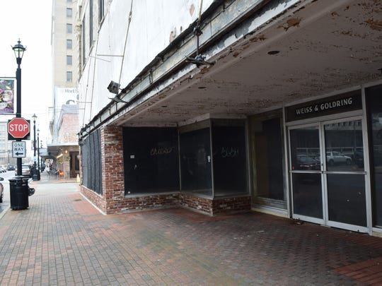The city of Alexandria is considering whether to accept the donation of the vacant Weiss & Goldring building on 3rd Street.