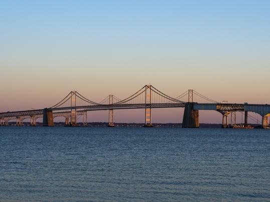 bay bridge lit