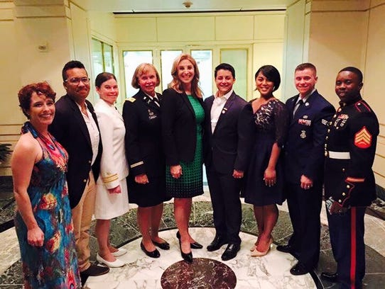 Retired Col. Sheri Swokowski with transgender service