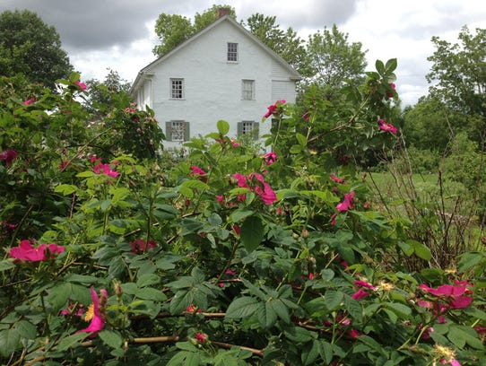 A scene from the historic Conococheague Institute grounds.